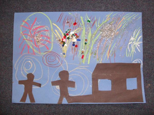 Bonfire artwork by Joshua Williams and mum