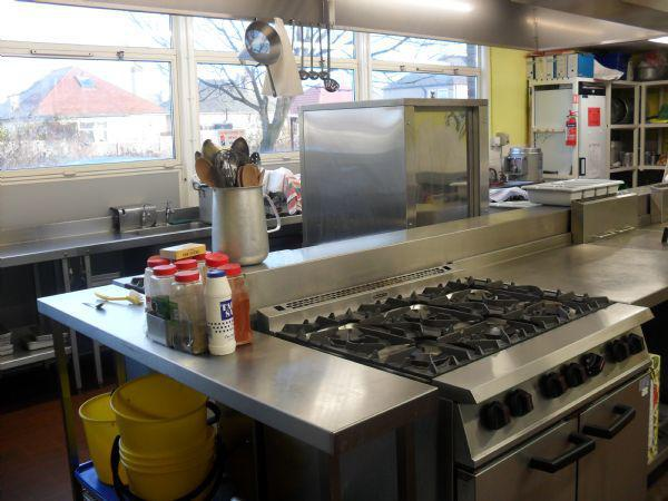 The school kitchen