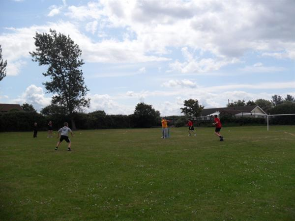 Cricketers in action!