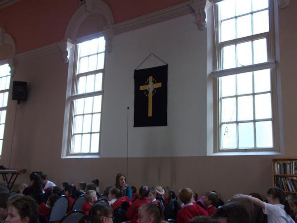 Year 1 and 2 visited the Baptist Church