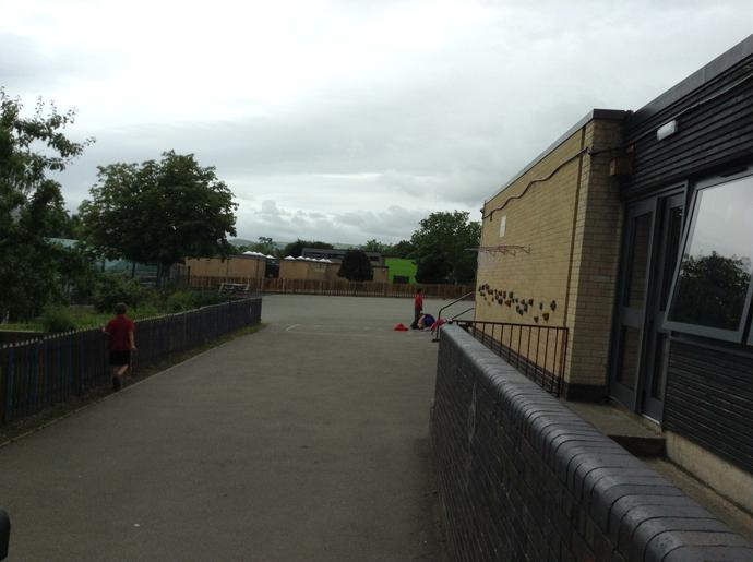 This is the back of the school