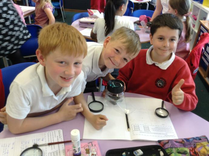 Pupils enjoying science.