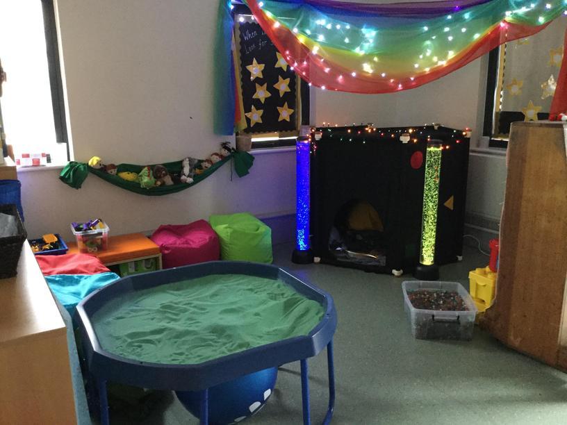Our school 'Hafan' sensory corner