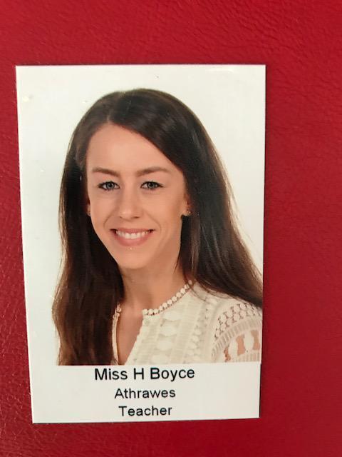 Miss H Boyce. Athrawes Bl 1/Year 1 teacher